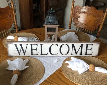 Welcome sign, rustic welcome sign, farmhouse sign