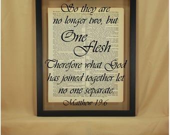No Longer Two, No Longer Two but One, No Longer Two but One Sign, Christian Wedding, Christian Wedding Gift, Christian Couples, Matthew 19 6