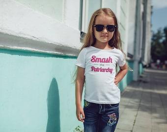 Smash the Patriarchy, Smash the Patriarchy Girls T-Shirt, Smash the Patriarchy Youth Shirt, Kids Feminist Shirt, Girl Power, Feminist Quote
