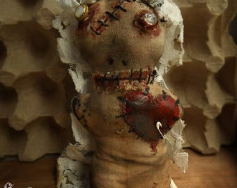 Voodoo/ Goth /Gothic / Doll Textile /Scary/Creepy /Voodoo Doll /Horror Doll /Horror Art/Bride / Scary bride
