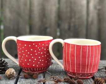 Red Mug Duo