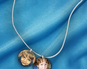 2 Custom Photo Charm Necklace