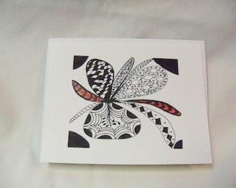 Greeting Card  Zentangle Art