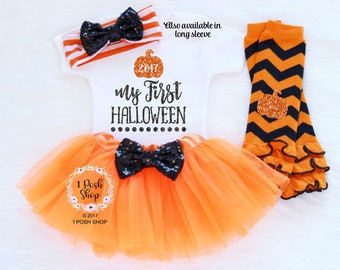 Baby Halloween Outfit, My First Halloween 2017, Baby First Halloween Outfit, Baby Halloween Costumes Girl, Baby Halloween Clothes HH2