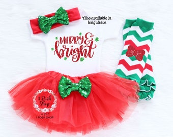 Baby First Christmas Outfit Girl, My First Christmas, Baby First Christmas Outfit, Baby First Christmas Bodysuit, Baby Christmas Gift HC3