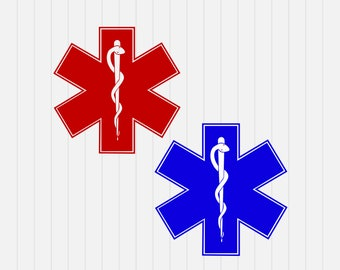 Paramedics, EMT, Ambulance Logos - svg, dxf, eps, png, Pdf - Download - Cut File, Clipart - Cricut Explorer - Silhouette Cameo