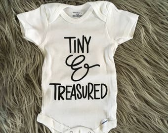 Tiny and Treasured onesie