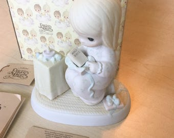 Vintage Precious Moments May Your christmas Be Blessed Figurine E-5376