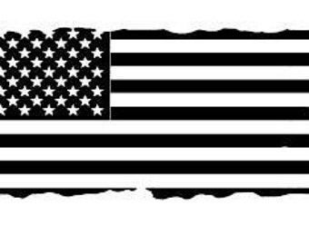 REFLECTIVE Distressed Flag Decal/Distressed Flag/Flag/USA Flag/USA/Reflective/Reflective Decals/Decals