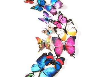 12 Butterfly Wall Stickers