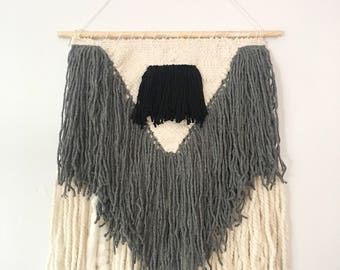 Woven Wall Hanging in Grey V