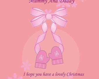 Mummy & Daddy Christmas Card from Bump Girl