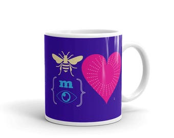 Be My Valentine REBUS Mug | Valentine's Day | Typographic Art  | Romance | Gift Idea for Lovers