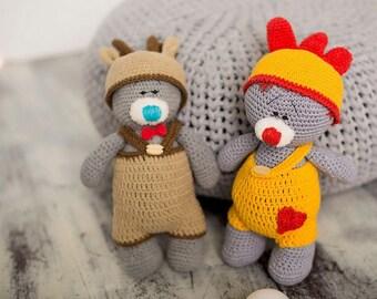 Bear Teddy Crochet  Amigurumi