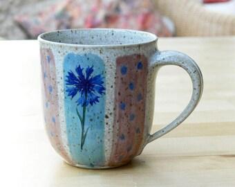Cup - cornflowers