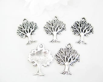 5 PC Tree of Life Charms, Silver Tree Of Life Charms, Jewelry Making Charms, Craft Supplies 20mm x 15mm (1857)