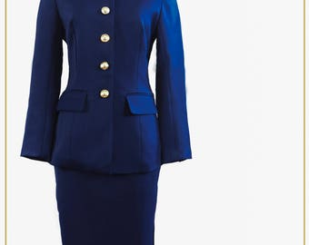 Kate Blazer suit in Oxford Blue