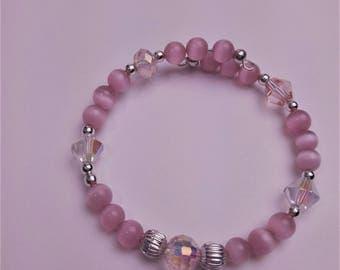 Pretty in Pink Crystal Bracelet