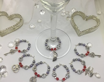 Fifty Shades of Grey Inspired Wine Glass Charms