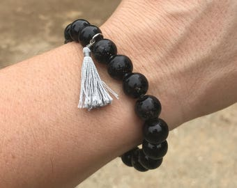 Black w/ Grey Tassel