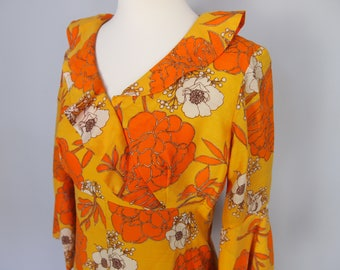 1970s Boho Maxi Dress with bell sleeves