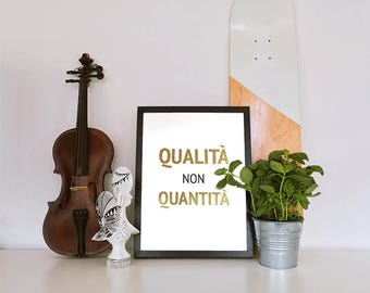 Poster: quality not quantity