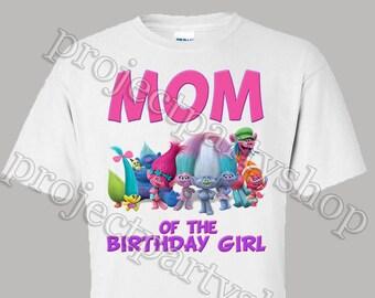 Trolls Mom Shirt, Trolls Birthday Shirt, Trolls Dad Shirt