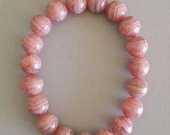 Rhodochrosite Bracelet - Gemstone of the Compassionate Heart