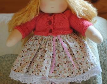 """14""""(36 см)Waldorf doll. Штайнер кукла-ткань куклы-ручной работы куклы-мягкие куклы-вальдорфские игрушки"""