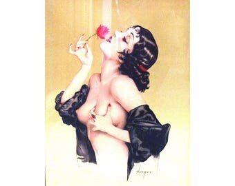 """Alberto Vargas """"Memories of Olive"""" 1985 Limited Edition Lithograph 265/500"""