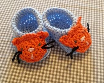 Handmade Baby Gift    Crochet Baby Booties   Cat Booties   Cat Baby Gift   Handmade   Baby Shower Gift   New Baby   Baby Boy   Baby Girl