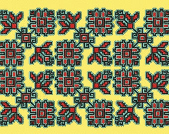 Embroidery traditional bulgarian pattern
