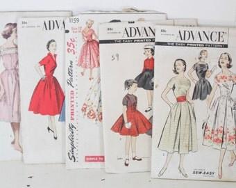 Vintage Advance sewing patterns, vintage sewing patterns, vintage dress patterns, vintage Simplicity pattern, vintage pattern, dress pattern