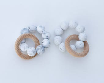 Birch Teething Rattle - Black and White Collection