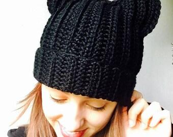 Crochet/Knit/Handmade Cat Hat