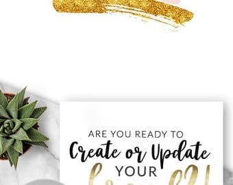 368  - Jamison, LOGO Premade Logo Design, Branding, Blog Header, Business, Boutique, Photographer, Website, Pink, Gold Glitter, Watercolour