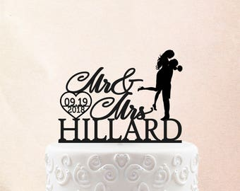 Wedding Cake Topper Personalized Surname Cake Topper Wedding Cake Decor Name Cake Topper Bride And Groom Cake Topper Wedding Gift 2