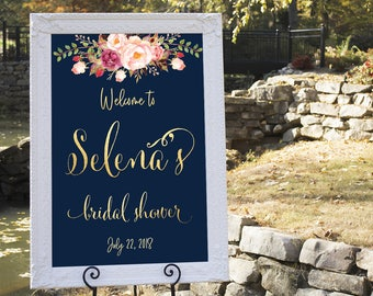 Bridal shower welcome sign, Bridal welcome sign, welcome sign, Printable bridal shower sign, Welcome wedding sign, Bridal shower sign #14