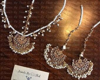Kundan mathapatti and earring set