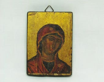 Orthodox Virgin Mary - Small icon - vintage