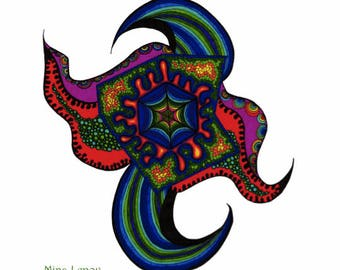 Virus. Virus Art, Virus Drawing, Colorful Virus, Abstract Nature, Microbial Life, Symetric Art