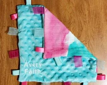 Watercolor Tula Tag Blanket