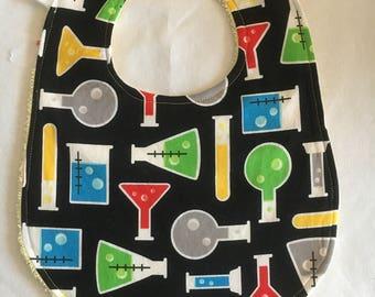 Baby Scientist Bib - Test Tubes