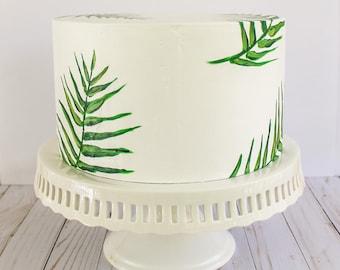Palm Leaf Cake- Fake cake, prop cake, party decor