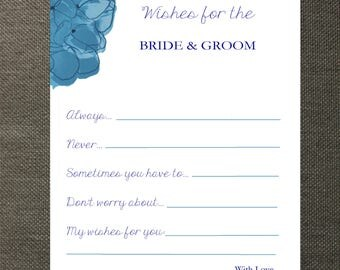 Hydrangea Wedding Wishes Cards
