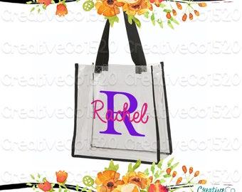Custom Clear Tote Bag | Custom Stadium Tote Bag Bag | Clear Stadium Bag | Football Stadium Bag | Gift Idea | Clear Clutch | Clear Tote Bag