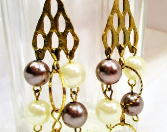 Long earrings, handmade, metal