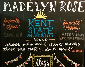 Graduation Chalkboard
