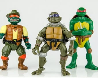 Vintage Teenage Mutant Ninja Turtles Action Figure Lot