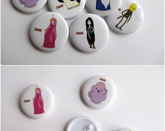 Adventure Time theme party - lsp badges button pin - adventure time decorations - AT brooch - finn and jake pins adventure time backpack pin